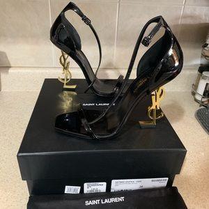 Saint Laurent Opyum Patent leather sandal